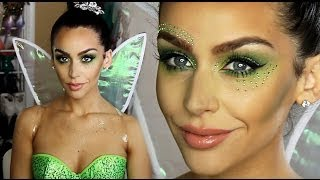 getlinkyoutube.com-Tinkerbell 'Fairy' Halloween Makeup Tutorial!