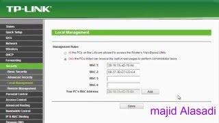 getlinkyoutube.com-الحلقــة (6) منع اي جهاز من الدخول الى اعدادات الراوترTP-Link