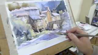 getlinkyoutube.com-Como pintar acuarela paso a paso. Watercolor demo. Watercolor turorial.