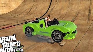 getlinkyoutube.com-Vertical Ramps! LEGO CAR EDITION - GTA 5 PC MODS (Mega Ramps & Vertical Ramps)