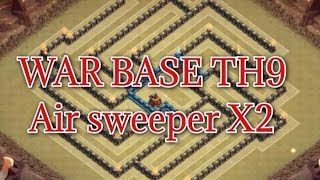 getlinkyoutube.com-Town Hall 9 Th9 Best War Base With 2 AIR SWEEPERS ANTI 2 STARS Speed build Replays   Clash of Clans