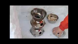 getlinkyoutube.com-[BC] 自作ネイチャーストーブでお茶漬け DIY Wood Stove