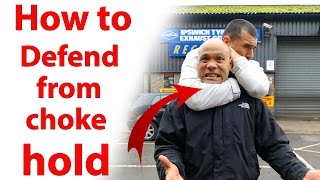 getlinkyoutube.com-How to get out of a Choke Hold | Street fighting