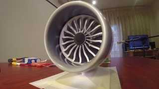getlinkyoutube.com-GE GEnx-1B 3D Printed B787 Jet Engine Model with Thrust Reverser