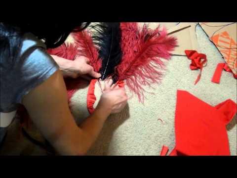 bency como hacer pequenos tocados con plumas