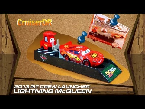 Disney Pixar Cars 2013 Pit Crew Launcher with Lightning McQueen 1:55 Mattel