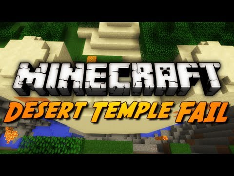 Minecraft Seeds - DESERT PYRAMID FAIL?!? (1.3 Seed Showcase)