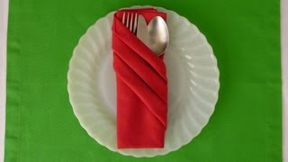 getlinkyoutube.com-Napkin Folding - Fancy Pouch