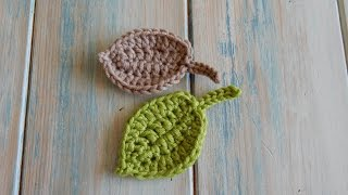 getlinkyoutube.com-How to Crochet a Leaf - Version 2