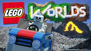 getlinkyoutube.com-Lego Worlds | Skeletons, Bulldozers and EPIC Car Stunts!