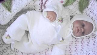 getlinkyoutube.com-Мягкие и теплые вязаные костюмчики для новорожденных