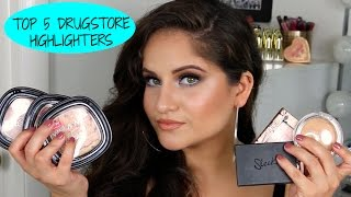 getlinkyoutube.com-TOP 5 DRUGSTORE HIGHLIGHTERS || ALL SKIN TONES