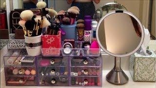 getlinkyoutube.com-College Makeup Collection & Storage!