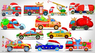 getlinkyoutube.com-Street Vehicles | Cars and Trucks | Christmas Videos | Vehicles for Kids