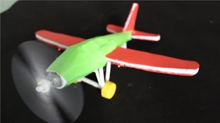 getlinkyoutube.com-How to make an Electric Airplane | Paper Airplane
