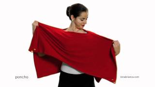 getlinkyoutube.com-Red Poncho Scarves - How to Make The Bina a Poncho
