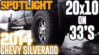 Spotlight - 2014 Chevy Silverado 2500HD, R/C Suspension, 20x10's, and 33's