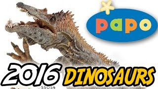 getlinkyoutube.com-NEW Papo® 2016 DINOSAURS | Images & Discussion | Baryonyx Feathered Raptor Running T.rex repaint