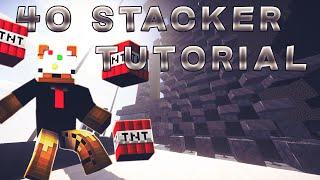 getlinkyoutube.com-TNT Cannon Tutorial - 40 Stacker Slab Bust One Shotter