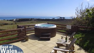 getlinkyoutube.com-Abersoch 5 Star self catering Log Cabin North Wales | Gorwel