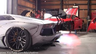 Liberty Walk Aventador w/ Fi Exhaust Insane Sound!
