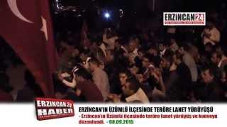 Üzümlü'de Yüzlerce Kişi Teröre Lanet Etti