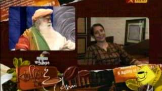4-Sadhguru Jaggi Vasudev - Coffee with Anu - Vijay TV