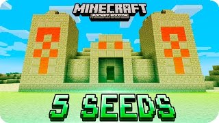 Minecraft PE Seeds - TOP 5 Unique Seeds (Villages, Desert Temple, Ice Spikes) 1.0 / 0.17.0 MCPE