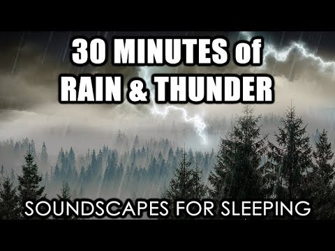 Soundscapes for Sleeping- Rain & Thunder (30 Minutes)