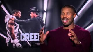 getlinkyoutube.com-CREED Interview: Michael B. Jordan on Filming, Working with Stallone  & Training