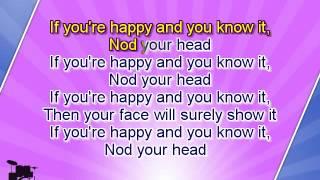 getlinkyoutube.com-Karaoke for kids - If You Are Happy And You Know It - fast - key +3
