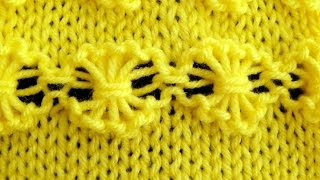 Cómo Tejer Flores-How to Knit Flowers 2 Agujas (162)