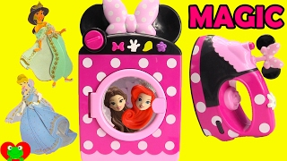 getlinkyoutube.com-Minnie Mouse Magical Washing Machine and Disney Princess Surprises