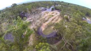 Quick ride at Luke Madills backyard SX track.