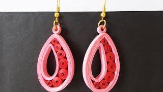 getlinkyoutube.com-Easy Quilled Earrings Tutorial : Paper Earrings for Girls | Handmade Jewelery