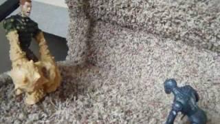 getlinkyoutube.com-Spider-man vs Sandman (stop motion)