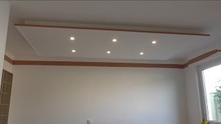 getlinkyoutube.com-Decke abhängen und LED Strahler und LED Strips light einbauen