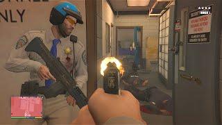 getlinkyoutube.com-GTA 5 Michael And Trevor's Police Station Assault/Five Star Escape