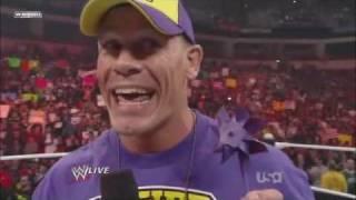 John Cena Raps on The Rock! width=