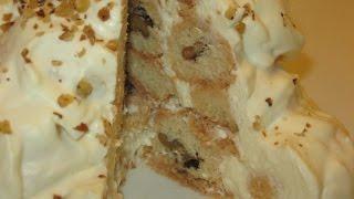 getlinkyoutube.com-Как приготовить песочный торт Снежки