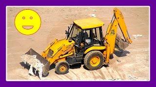 getlinkyoutube.com-Excavator Trucks Tractors JCB Construction Trucks For Children At Work by JeannetChannel