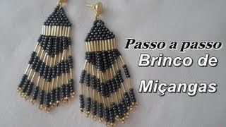 getlinkyoutube.com-NM Bijoux - Brinco de Miçangas