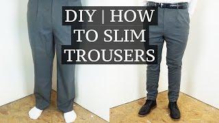 getlinkyoutube.com-DIY   How To Slim & Shorten Suit Trousers   Josh Barnett