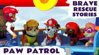 getlinkyoutube.com-Paw Patrol Brave Rescues with Thomas & Friends and Minions | Peppa Pig and Scooby Doo Episodes