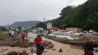 Tropical Storm Erica Terrifying flash floods in Dominica