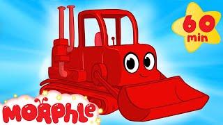 getlinkyoutube.com-My Red Bulldozer + 1 Hour Kids Videos compilation ( Incl Digger, Firetruck) - My Magic Pet Morphle