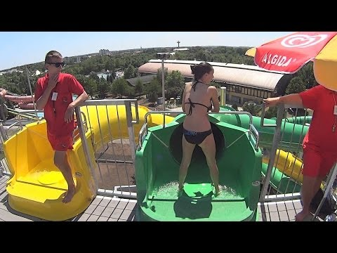GreenTube Water Slide at Hungarospa