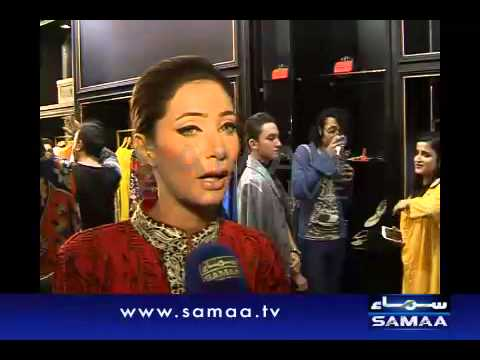 Women winter fashion show in Karachi.