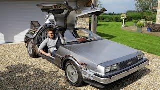 getlinkyoutube.com-Great Scott! Man Owns Real Life Back To The Future DeLorean