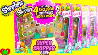 getlinkyoutube.com-Shopkins GIANT Super Shopper Pack Season 3 with 4 Exclusives Per Pack